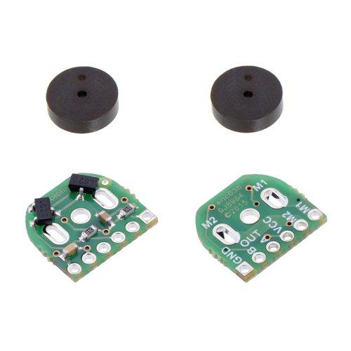 シャフト付き超小型メタルギアドモーター用磁気式エンコーダ(2個入り)