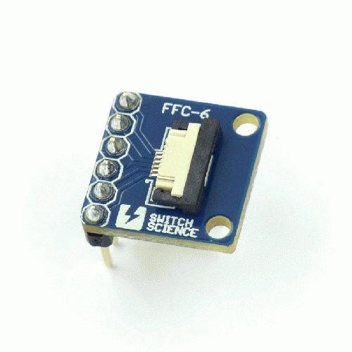 FeliCa RC-S620S ピッチ変換基板 ピンヘッダ実装済 (フラットケーブル付き) --販売終了