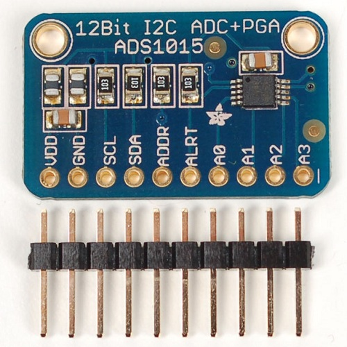 ADS1015搭載 12BitADC 4CH 可変ゲインアンプ付き