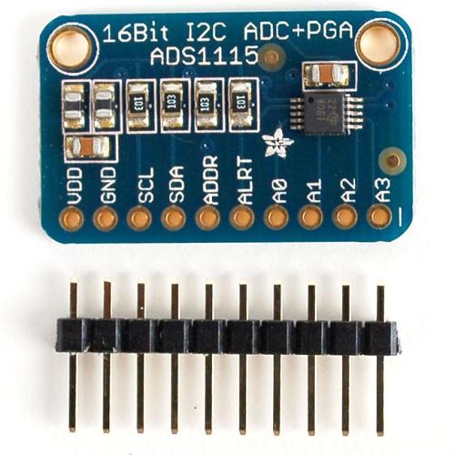 ADS1115搭載 16BitADC 4CH 可変ゲインアンプ付き