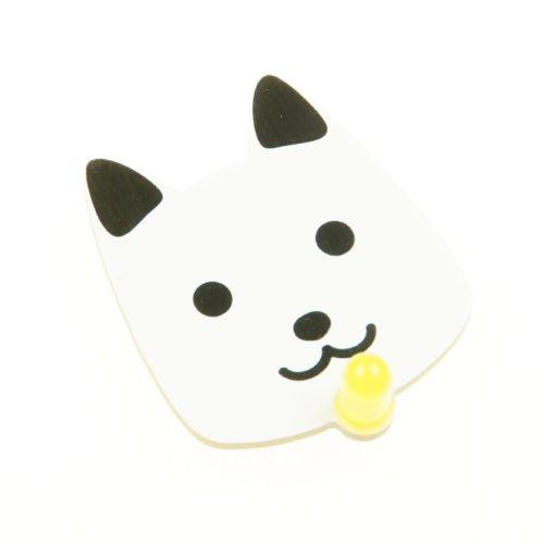 ピカピカどうぶつバッジ(イヌ) 黄色の自動点滅LED付き