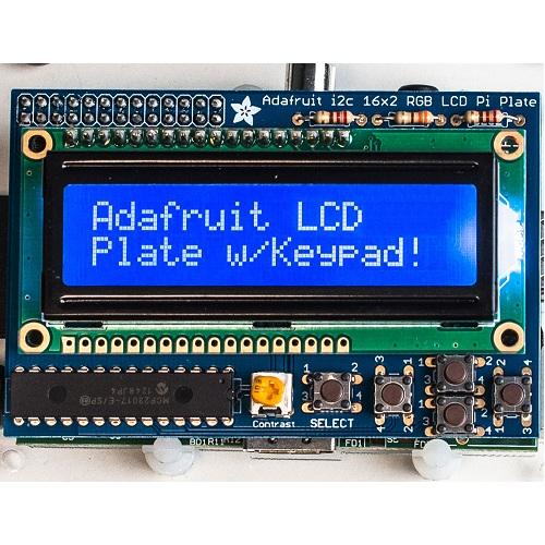 Raspberry Pi用I2C接続のLCDキット(青地・白文字)