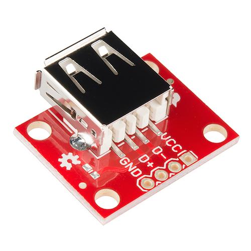 USBAコネクタ・ピッチ変換基板