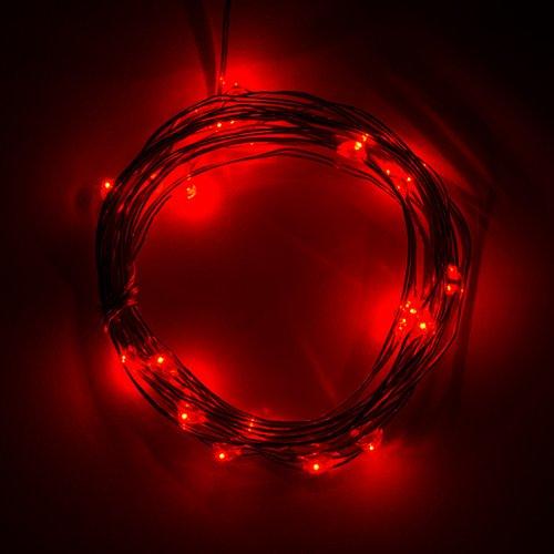 電源付きLEDテープ Fairy Lights - 赤色(2.5m)