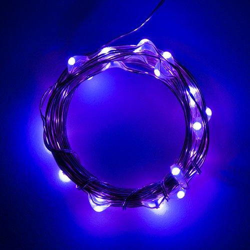 電源付きLEDテープ Fairy Lights - 紫色(2.5m)