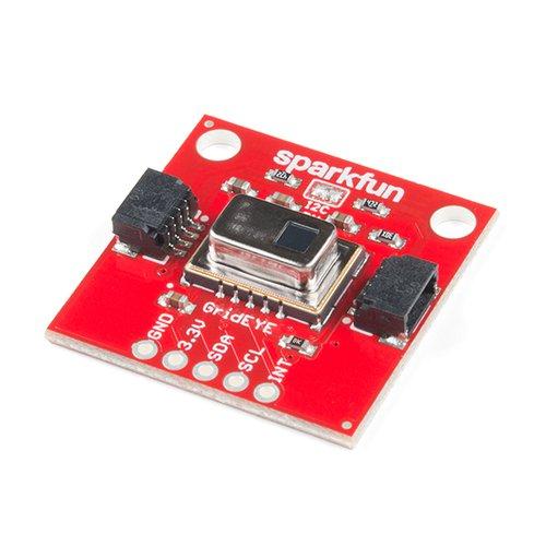 Qwiic - AMG8833搭載 Grid-EYE 赤外線アレイモジュール