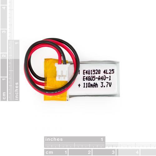 リチウムイオンポリマー電池110mAh--販売終了