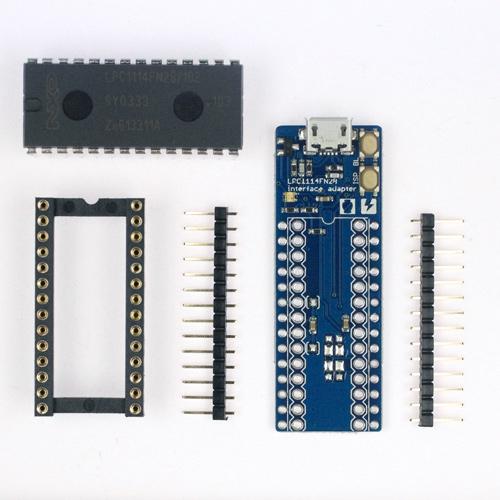 mbed LPC1114FN28 スルーホール部品未実装版