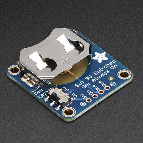 20mmコイン電池・ピッチ変換基板(スイッチ付き)