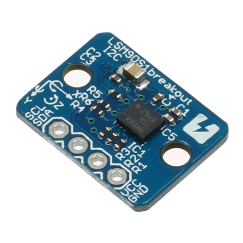 LSM9DS1 9軸慣性計測ユニット ピッチ変換済みモジュール