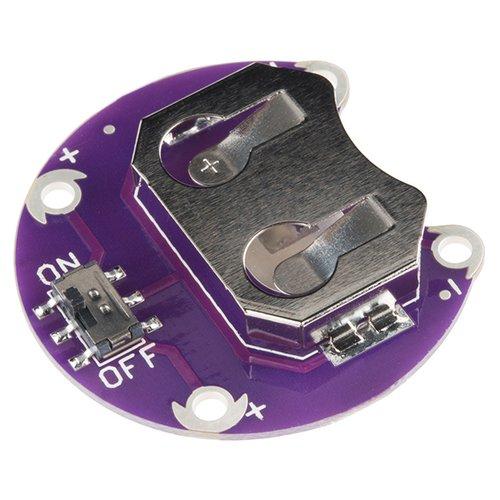 LilyPadコイン型電池ホルダー(スイッチ付き)