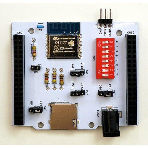 Nucleo64用 Wi-Fi + microSD + 電源拡張ボード「NC64-BaseShield」(完成品)