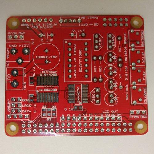 リクロック + デジタルアイソレータボード for jinson ラズパイDAC