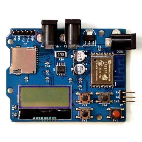 INA219搭載 電圧、電流、電力モニター基板 「ESP-PowerMonitor」(DCJack)