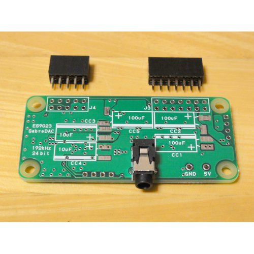 SabreberryDAC ZERO GPIO端子未実装版(Pi Zero用)