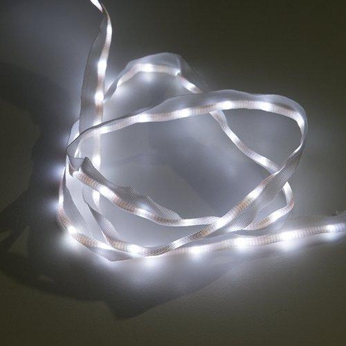 布製LEDリボン - LED50個搭載 1m(白色)