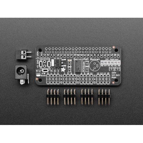 Adafruit Servo Bonnet for Raspberry Pi(16チャンネル、PWM制御)
