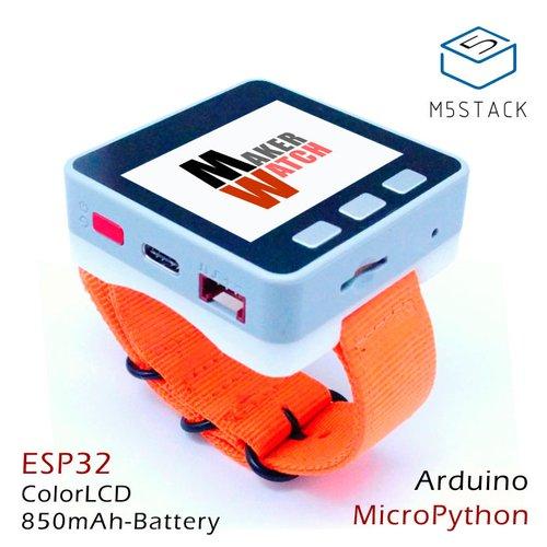 M5Stack用ウォッチバンド(オレンジ・黒)--在庫限り