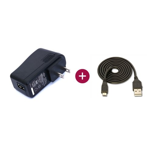 USB ACアダプタ 5V/2.5A(microB USBケーブル付)
