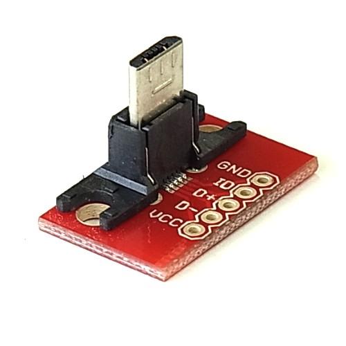 USBマイクロB端子コネクタ・ピッチ変換基板