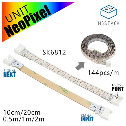 M5Stack用NeoPixel互換 LEDテープ 20 cm