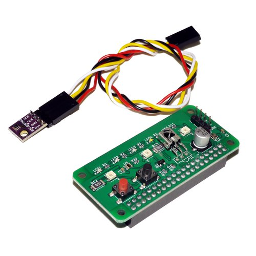 Raspberry Pi Zero用赤外線+環境センサ「RPZ-IR-Sensor」Rev2.0(端子実装済+外付けセンサ)