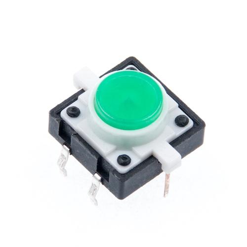LED付きタクトスイッチ(緑)