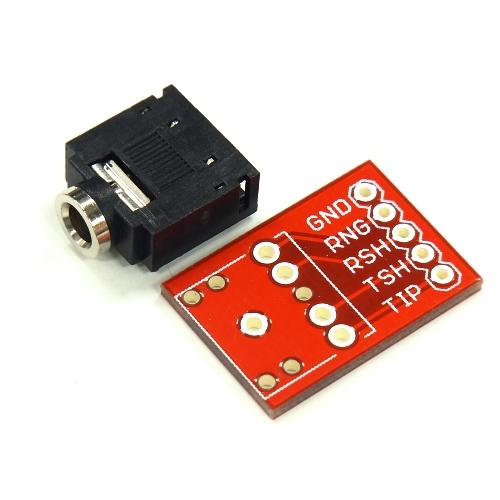 オーディオジャック+ピッチ変換基板のセット