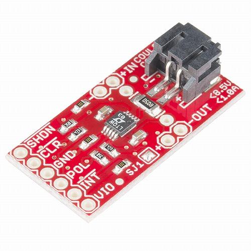 LTC4150搭載クーロンカウンタ方式電池残量計測ICピッチ変換基板
