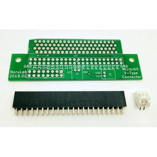 micro:bit用拡張コネクタ基板(縦型)
