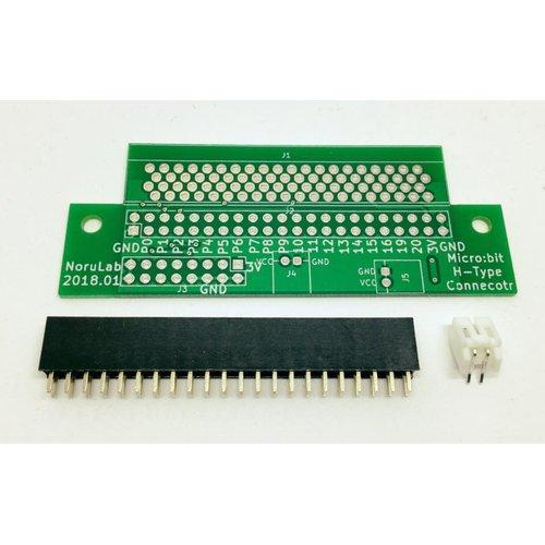 micro:bit用拡張コネクタ基板(横型)