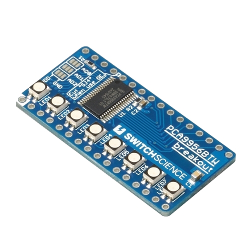 PCA9956BTW I2C 24ch 電流源型LEDドライバ基板