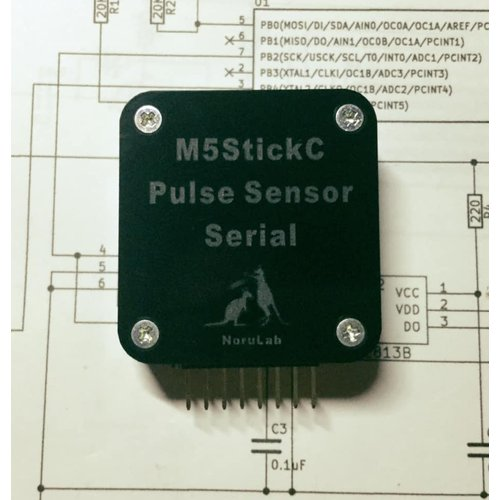 M5StickC用脈波センサ(Serial)-PULSE08-M5STICKC-S