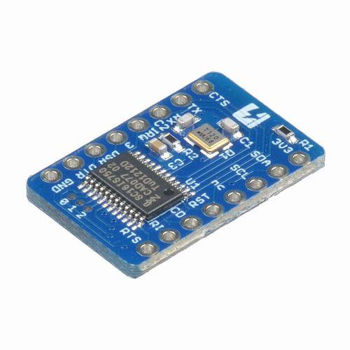 SC16IS750 シリアル-I2C ピッチ変換済みモジュール
