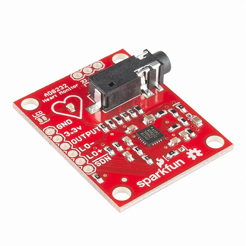 AD8232搭載単極誘導心電モニター