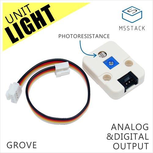 M5Stack用光センサユニット