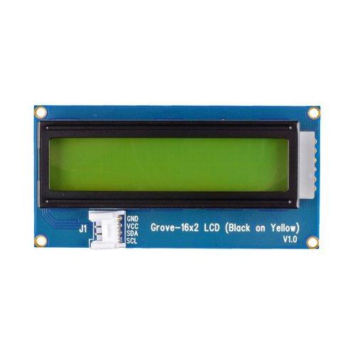 GROVE - 16 x 2 LCD(黄背景・黒文字)