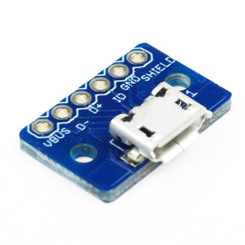 USB microB ピッチ変換基板