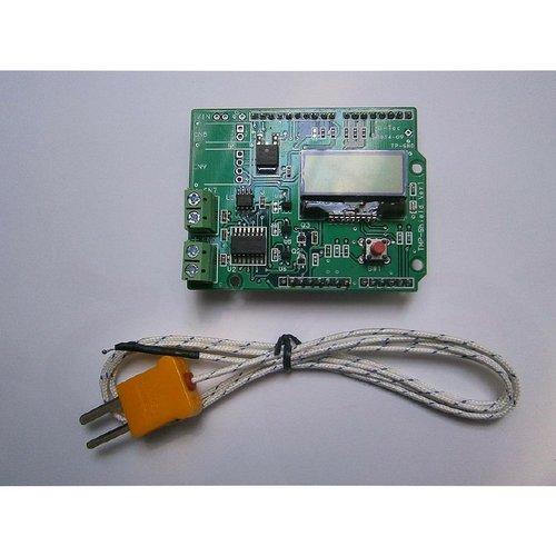 温度測定&DC制御 TEMPシールド V1.0 LCD搭載--販売終了