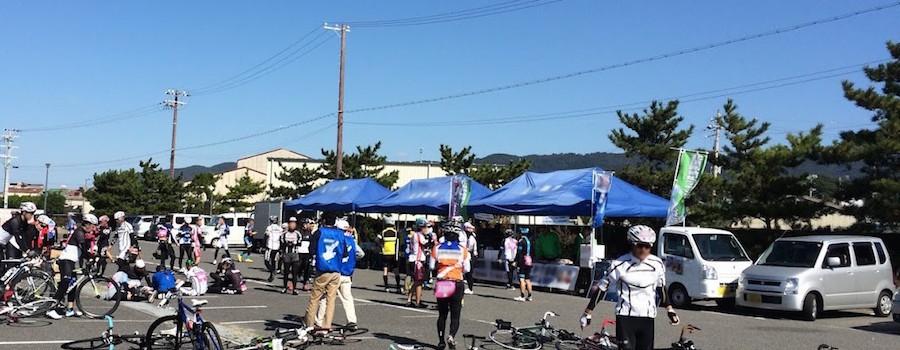 自転車イベントでのエイドステーション